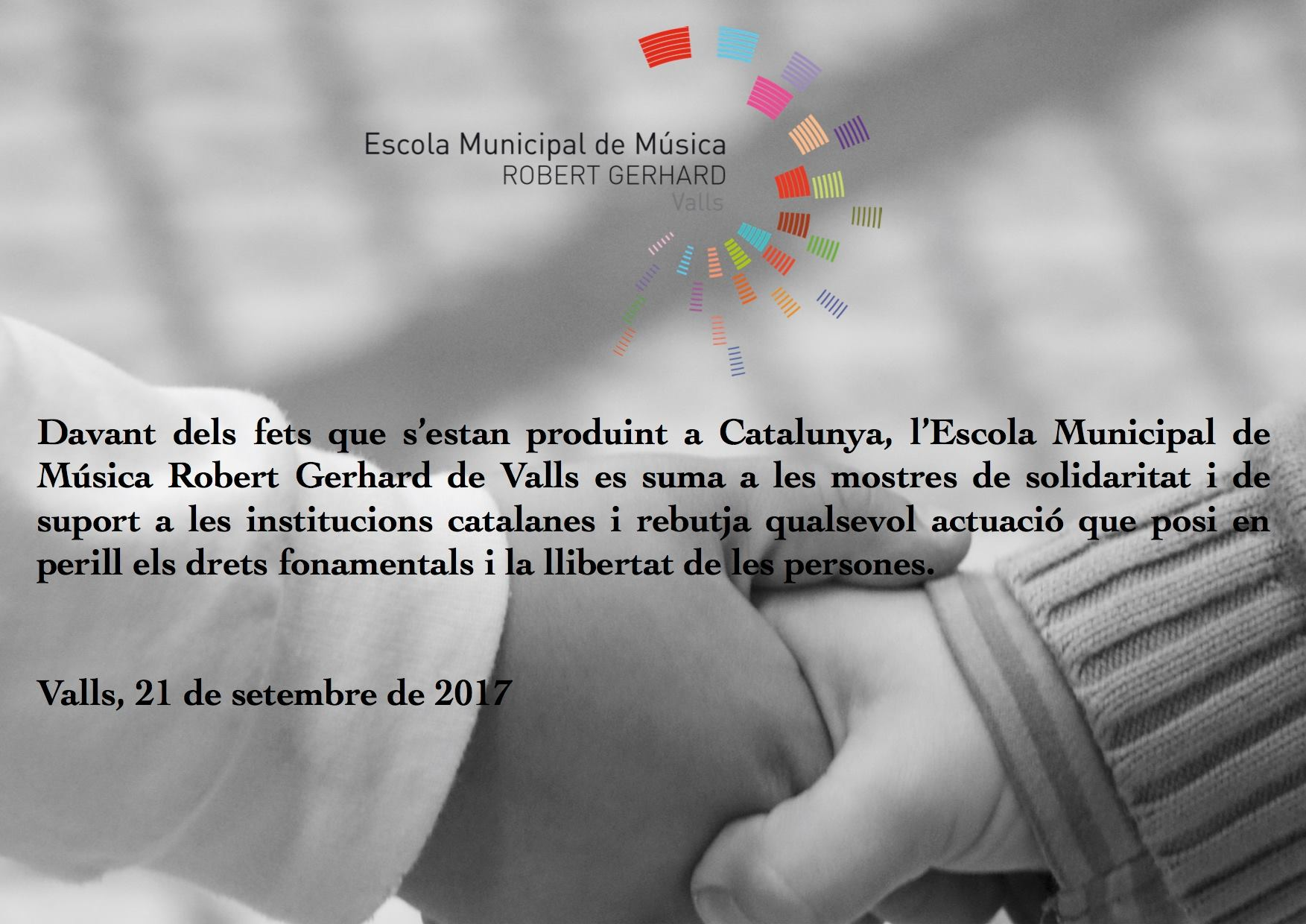 c79ba2a539da L'ESCOLA AMB LES INSTITUCIONS CATALANES - Escola de música Valls ...